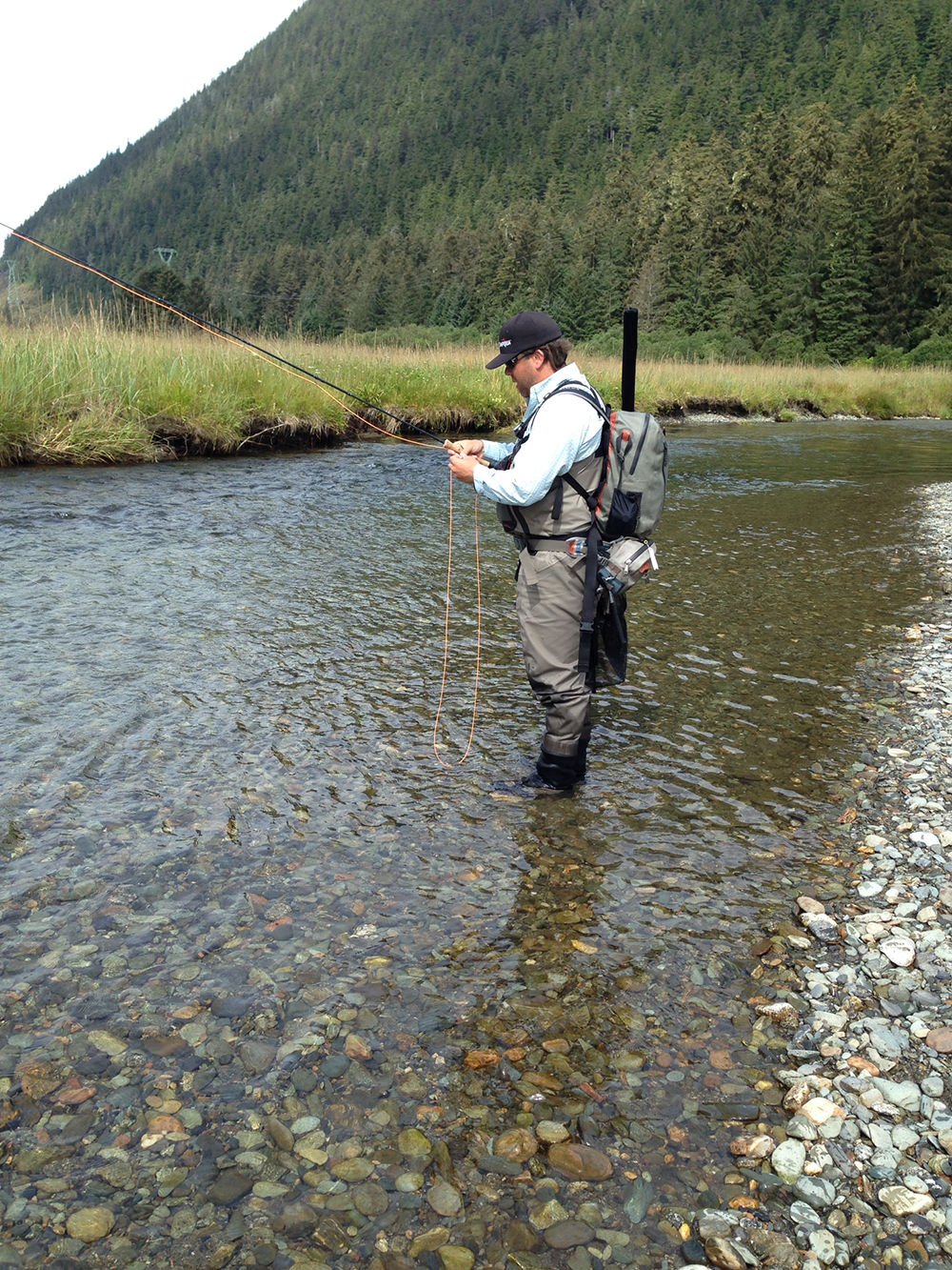 Living on earth alaskan river riches fly fishing and for Juneau fishing charters