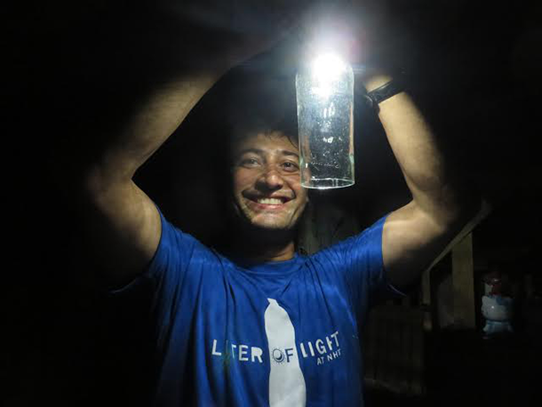 liter of light Liter of light aims to provide an ecologically and economically sustainable source of light to underprivileged communities around the world this source of light is based on a solar bottle, is easy to install and requires only simple technology and accessible materials.