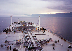 Photo: Deck of the ARCO Alska